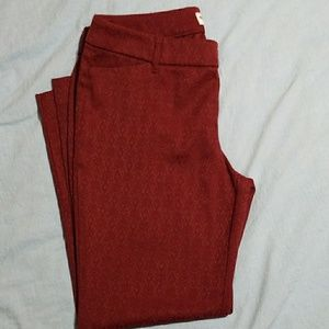 Old Navy Pixie Burgundy Pants Size 10 Regular